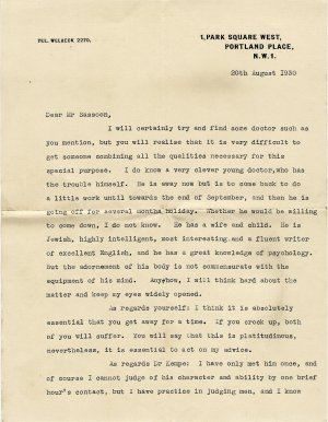 Letter from Doctor Chandler