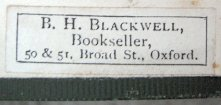 Bookseller Label