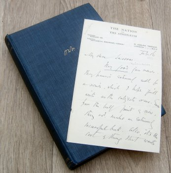 H W Massingham Book and Letter