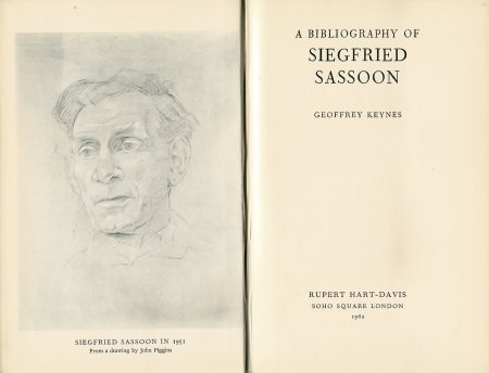 A Bibliography of Siegfried Sassoon