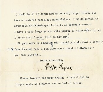 Letter from Geoffrey Keynes (back)