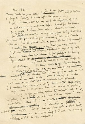 Draft Letter by Siegfried Sassoon
