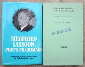 Siegfried Sassoon: Poets Pilgrimage Proof Copy