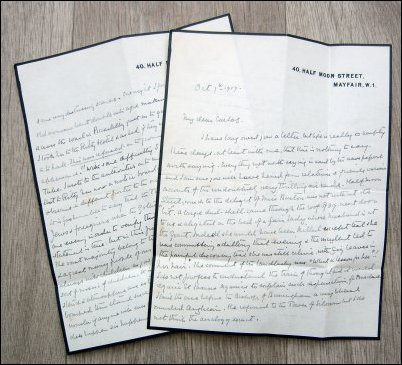 Letter Written by Robert Ross