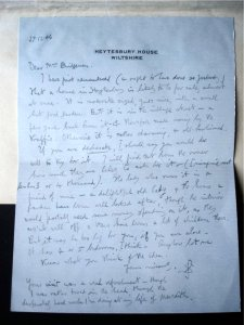 Letter from Siegfried Sassoon