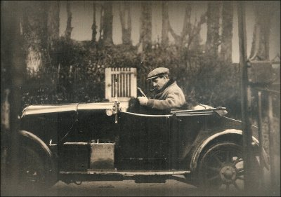 Siegfried Sassoon in his Car 1925