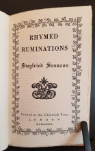 Rhymed Ruminations Title Page