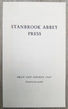 Stanbrook Abbey Press Price List August 1967